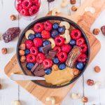 Porridge chocolat et beurre de cacahuètes