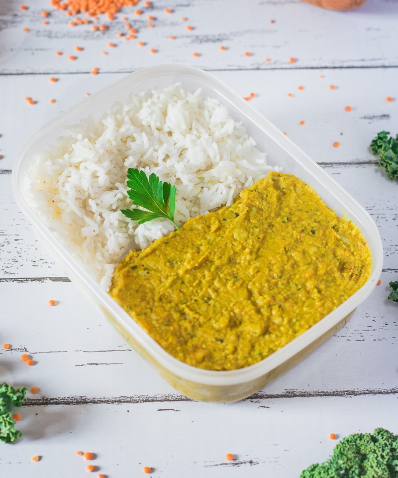 Dhal de lentilles curry et coco