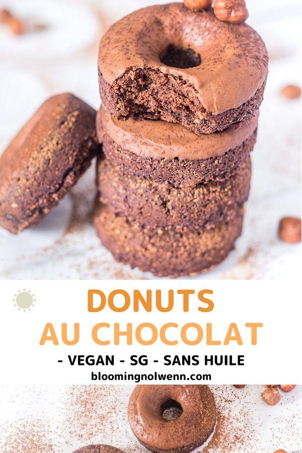 Donuts au chocolat au four