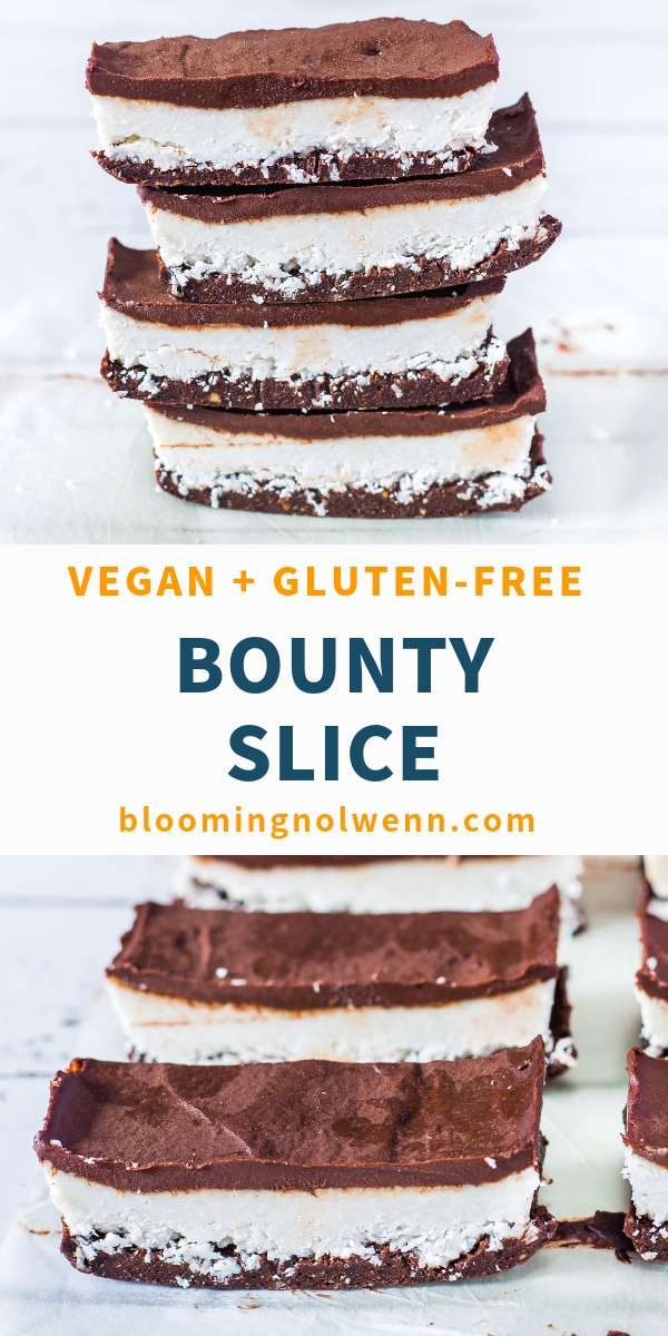 Bounty slice with brownie base