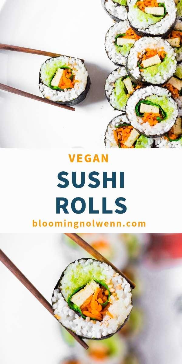 Easy vegan sushi rolls