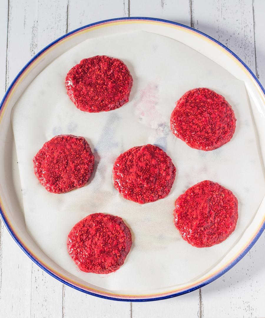 raspberry chia jam stuffed pancakes