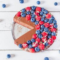 No-Bake Raspberry Chocolate Tart | Vegan, Gluten-Free, Oil-Free
