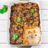 Vegan Zucchini and Potato Gratin | Oil-Free