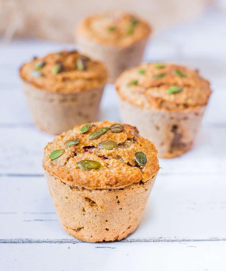 Muffins Vegan Cœur Framboise