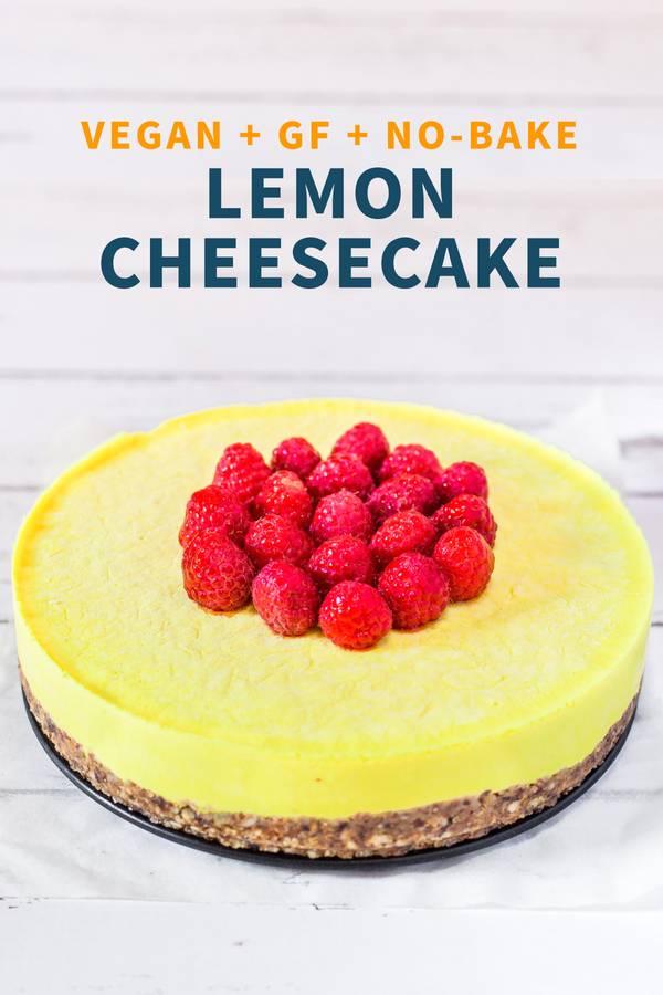 Raw Vegan Lemon Cheesecake
