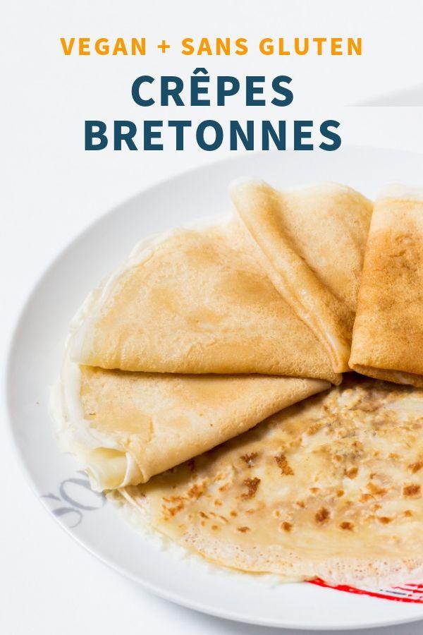Crêpes Bretonnes Vegan, sans gluten