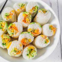 Vegan Rice Paper Summer Rolls | Gluten-Free
