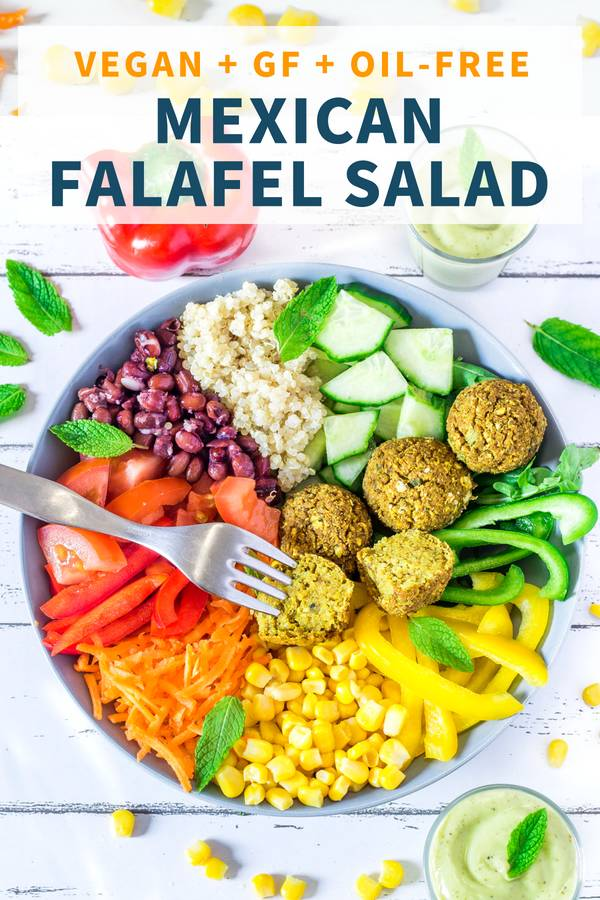 Easy Mexican Salad with Falafels