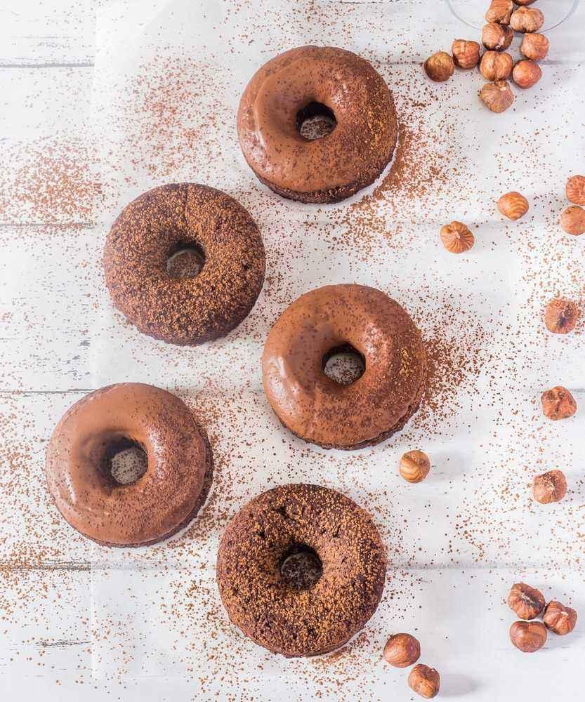 gluten-free vegan chocolate donuts