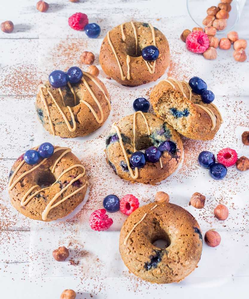 baked peanut butter donuts