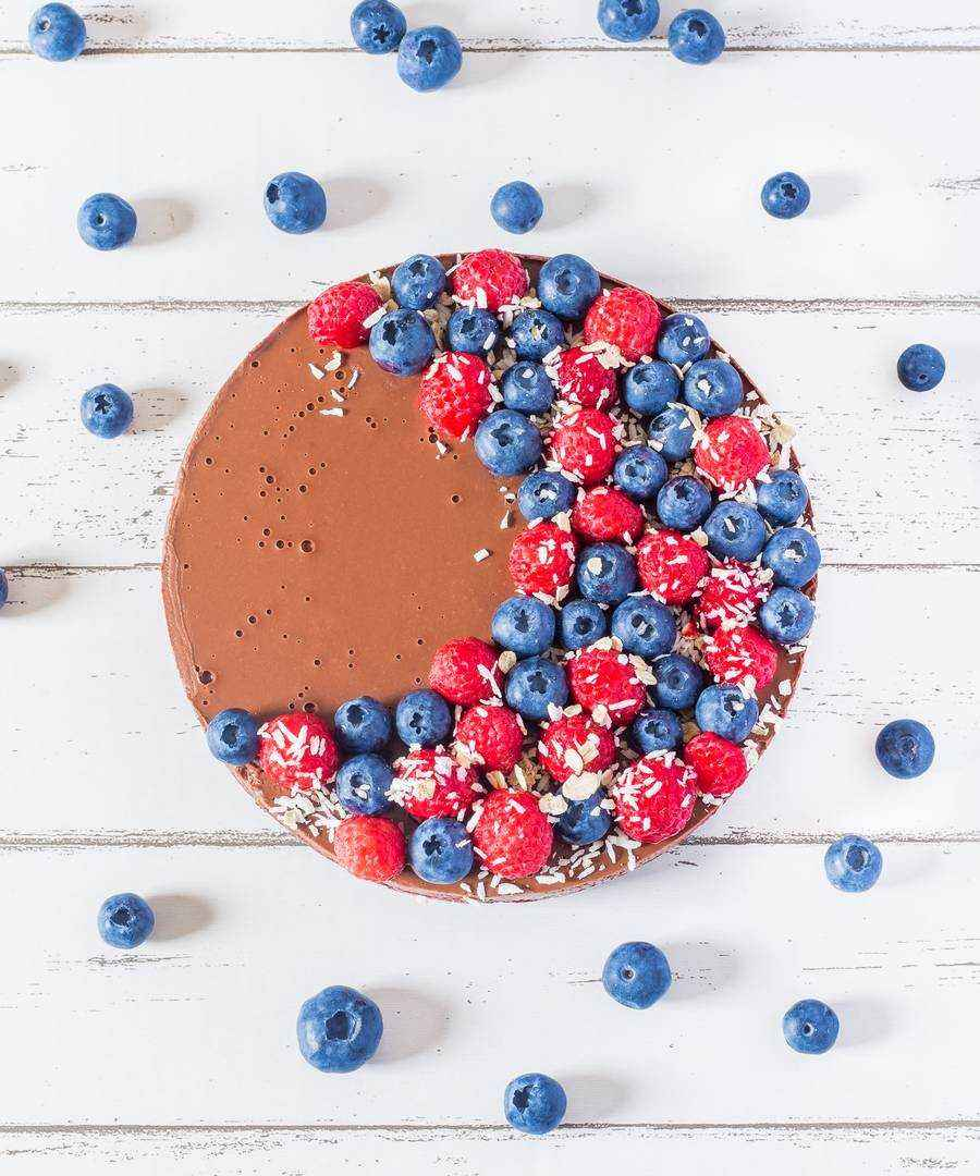 healthy vegan chocolate tart