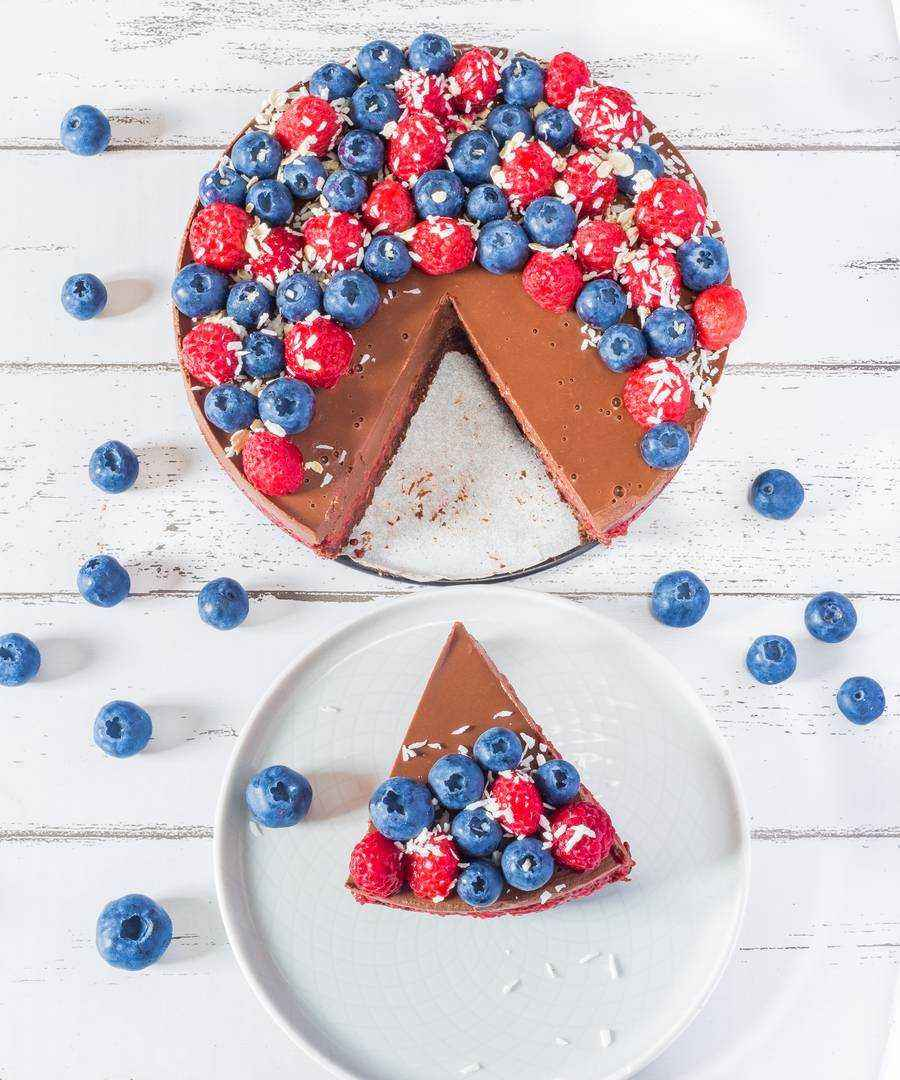 gluten-free oil-free chocolate tart