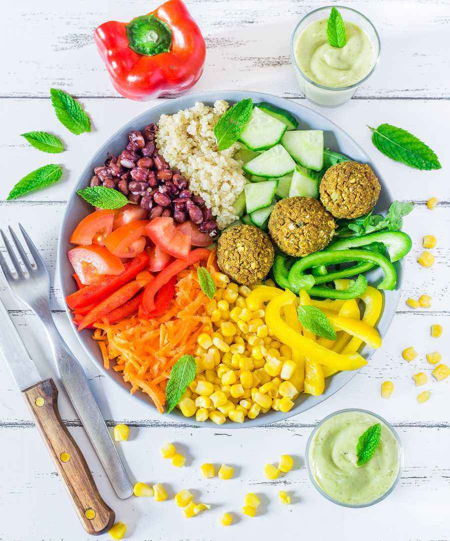 healthy vegan falafels