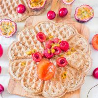 Vegan Breakfast Waffles | Healthy, Gluten-Free