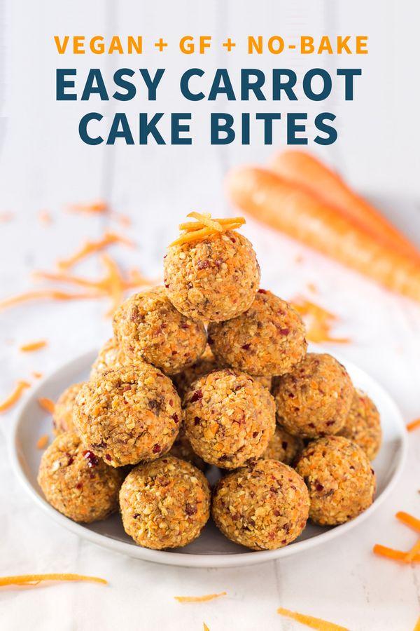 EASY CARROT CAKE BITES