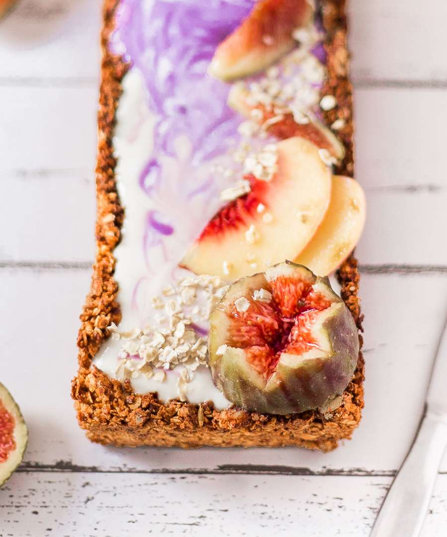 vegan tart with granola