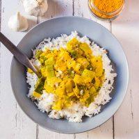 Fondue de Poireaux au Curry