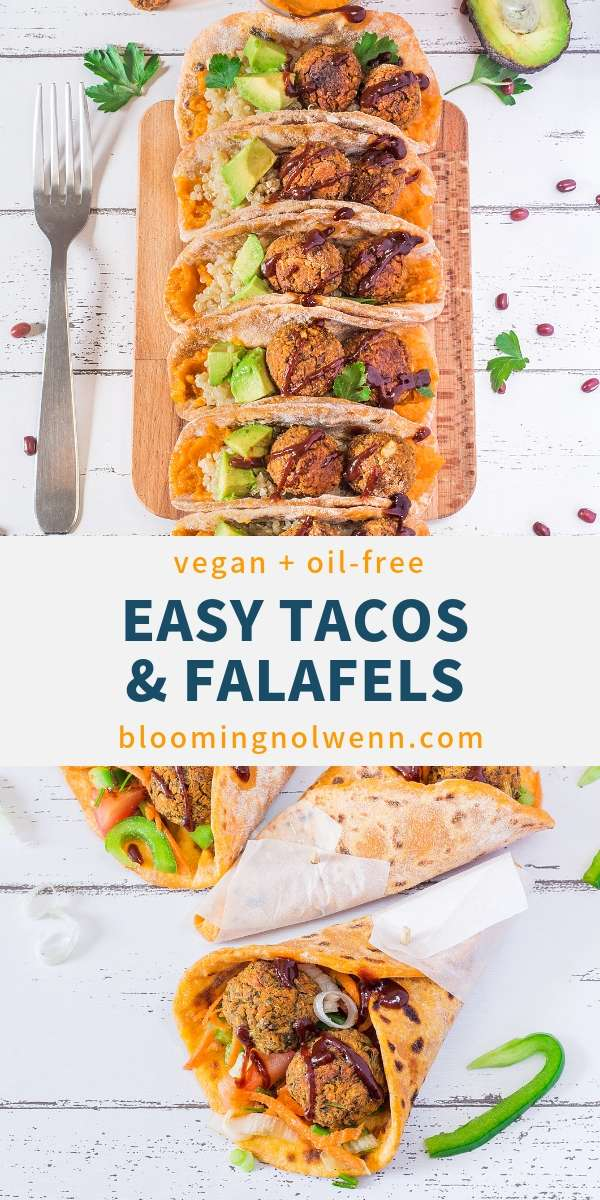 Vegan Taco Pockets with Falafels