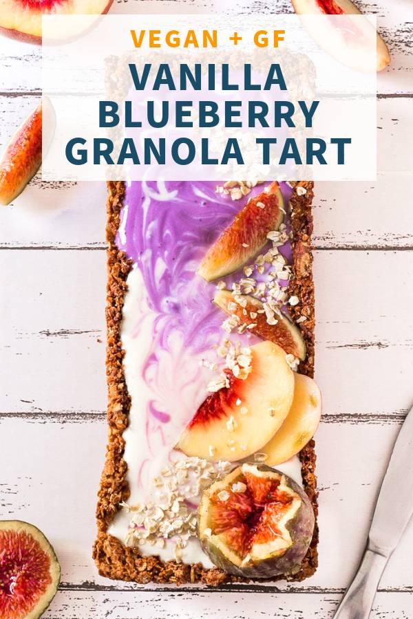 Vanilla Blueberry Granola Tart