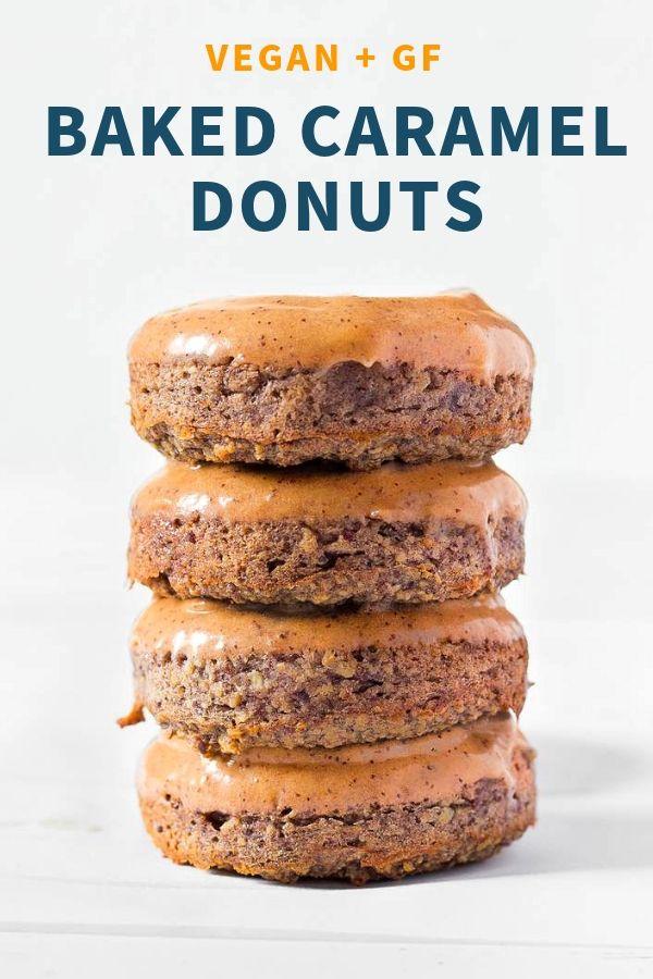Caramel Baked Vegan Donuts