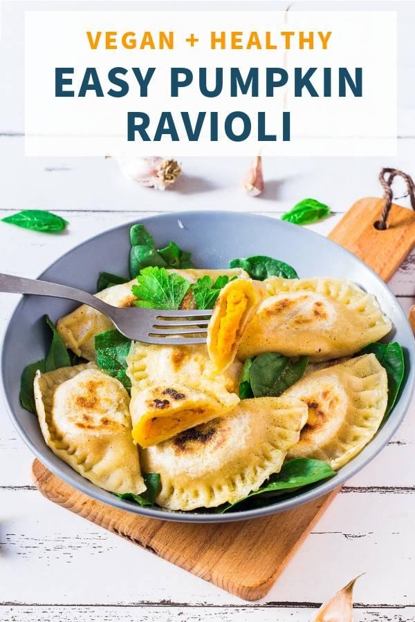 Homemade Vegan Ravioli with Pumpkin _ Healthy
