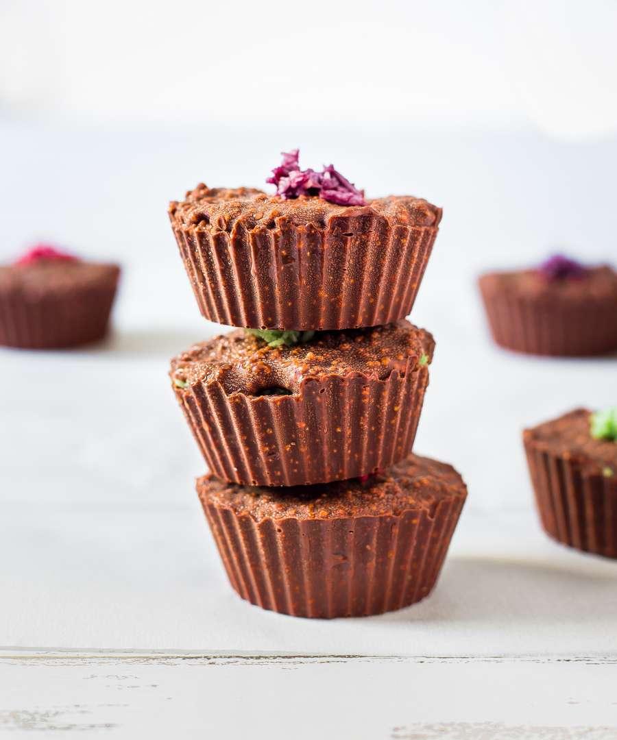 no-bake chocolate crunch cups