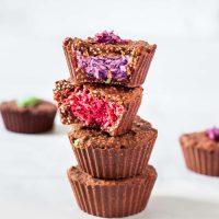 Rainbow Coconut Crunch Cups | Vegan, No-Bake