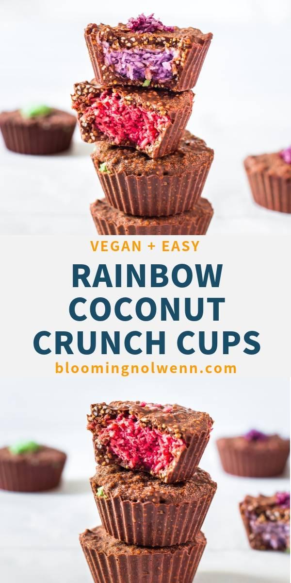 Rainbow Coconut Crunch Cups