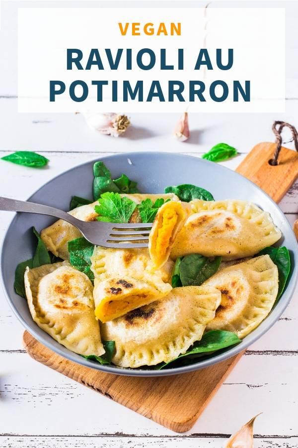 Ravioli Vegan au Potimarron