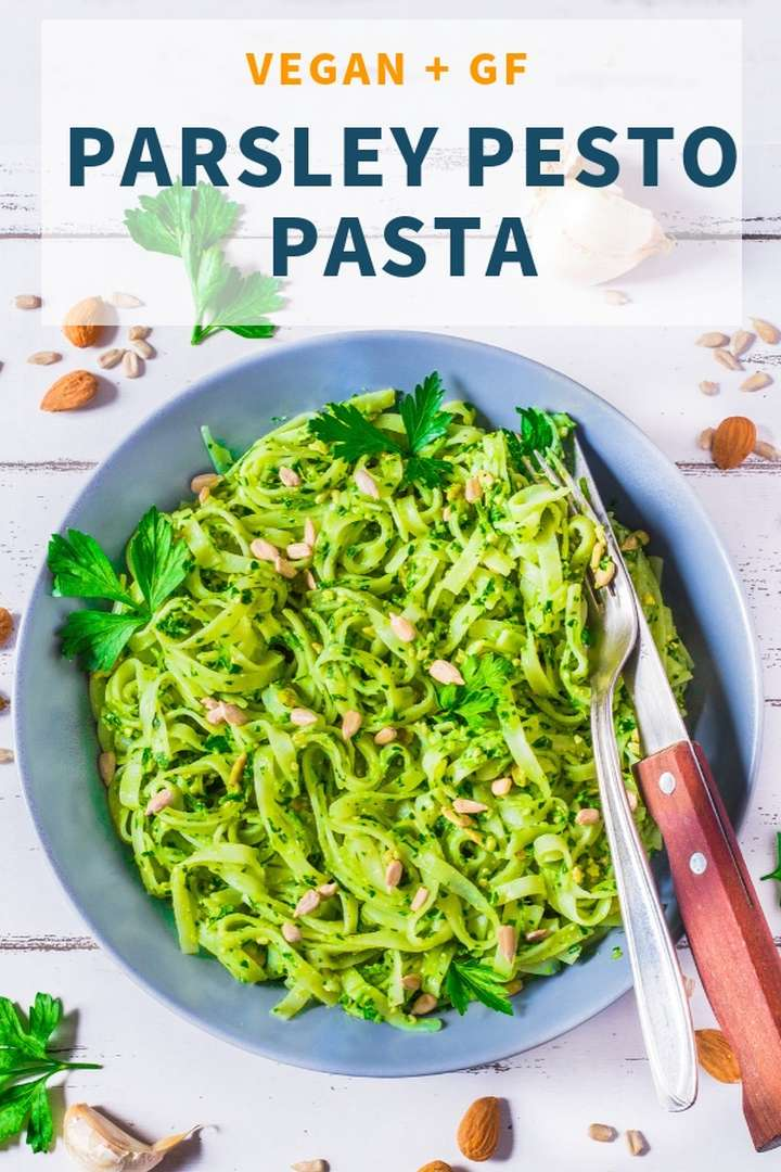 Vegan Parsley Pesto Pasta - Gluten-free Healthy