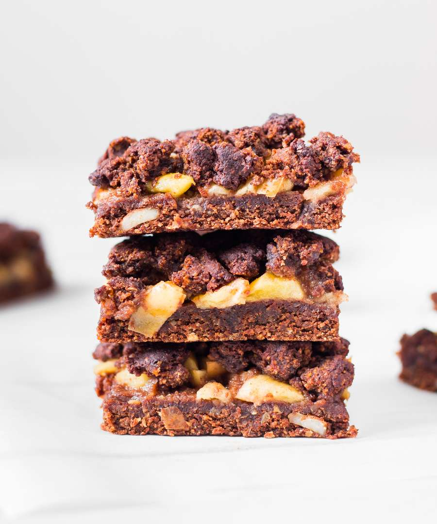 Crumb Bars Pomme Chocolat Vegan