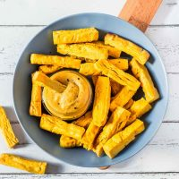 Baked Chickpea French Fries | Vegan, Gluten-Free