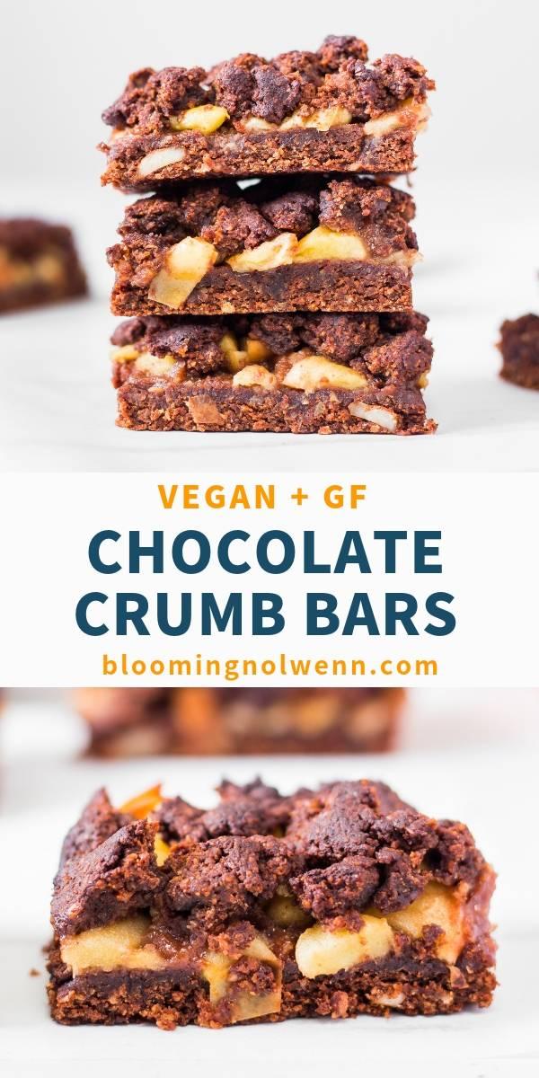 Vegan Chocolate Apple Pie Crumb Bars