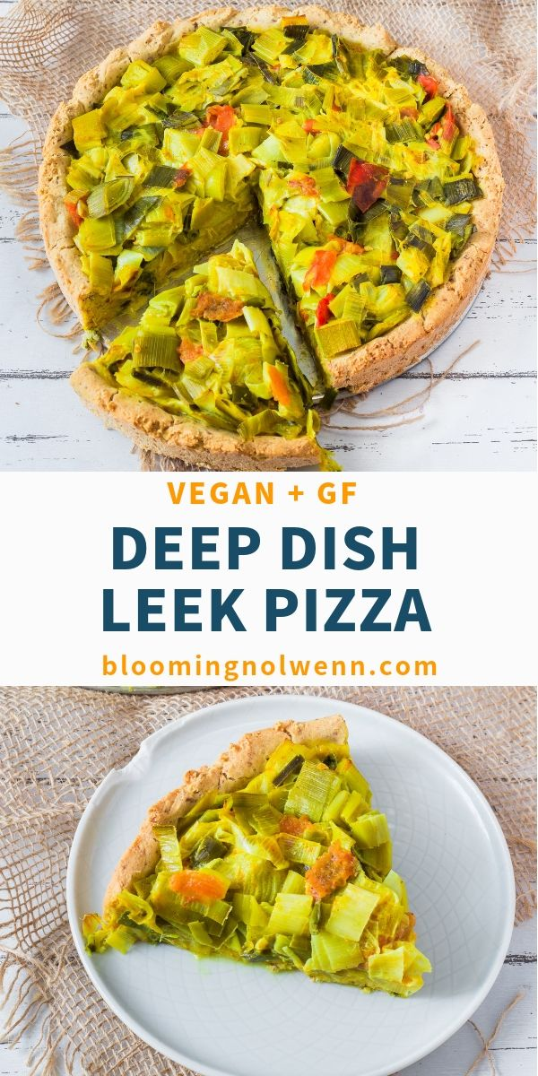 Vegan Deep Dish Leek Pizza