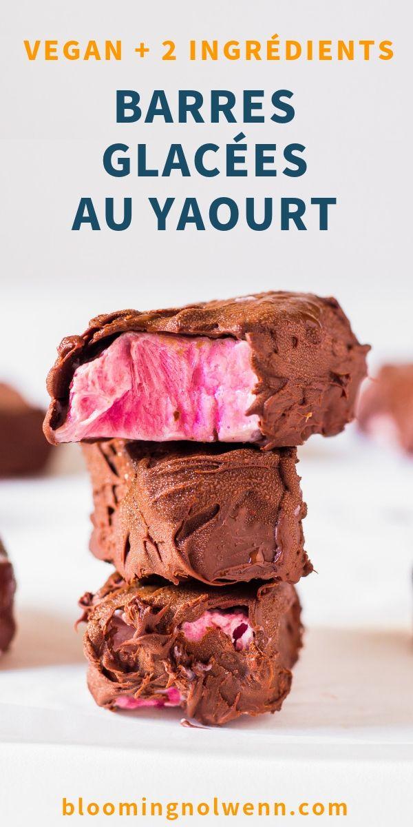 Barres Glacées au Yaourt et Chocolat - Vegan, sans gluten