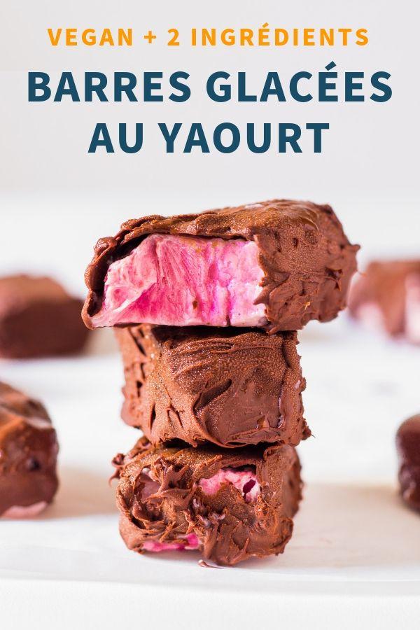 Barres Glacées au Yaourt et Chocolat - Vegan