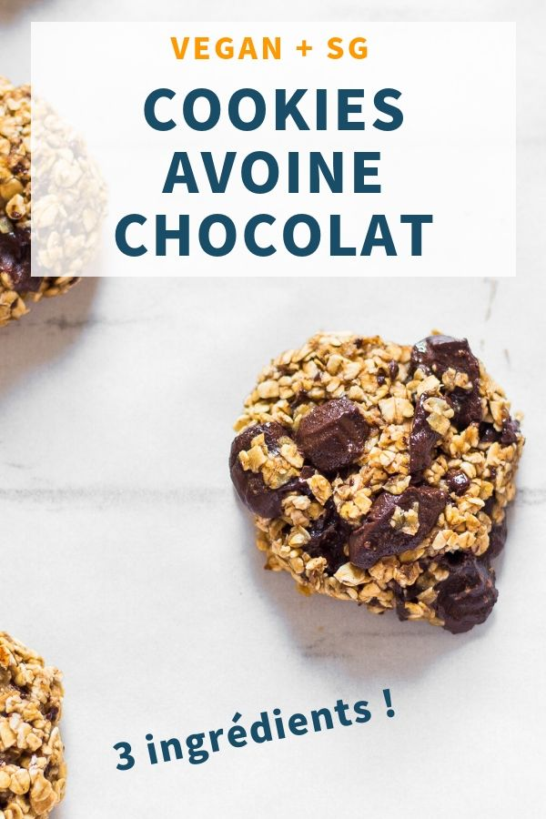 Cookies Vegan Avoine Chocolat Sans gluten