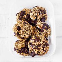 3-Ingredient Oatmeal Chocolate Chip Cookies | Vegan, Gluten-Free