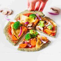 Lentil Crust Pizza | Vegan, gluten-free