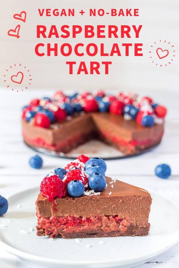 No-Bake Raspberry Chocolate Tart _ Vegan, Gluten-Free