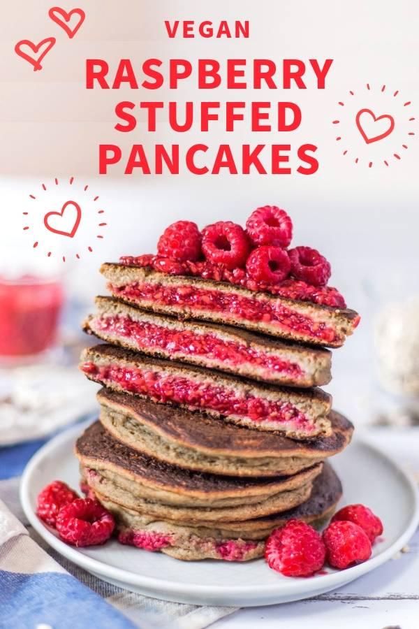 Raspberry Chia Jam Stuffed Pancakes _ Vegan, Gluten-Free