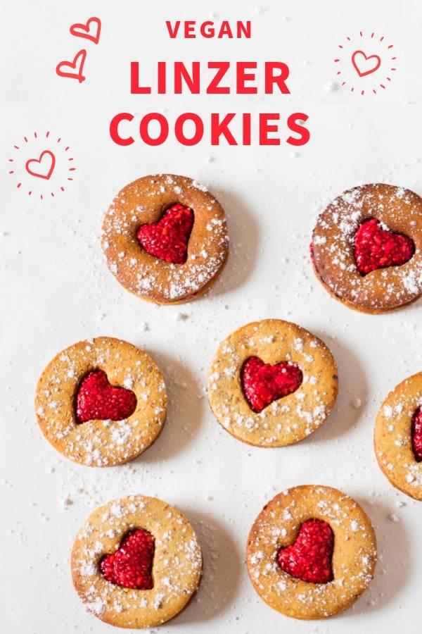 Vegan Linzer Cookies _ Gluten-Free, Valentines Day