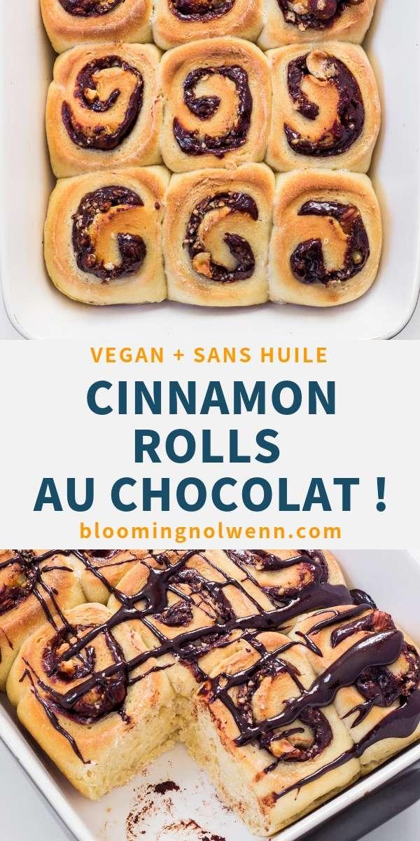 Cinnamon Rolls Vegan au Chocolat
