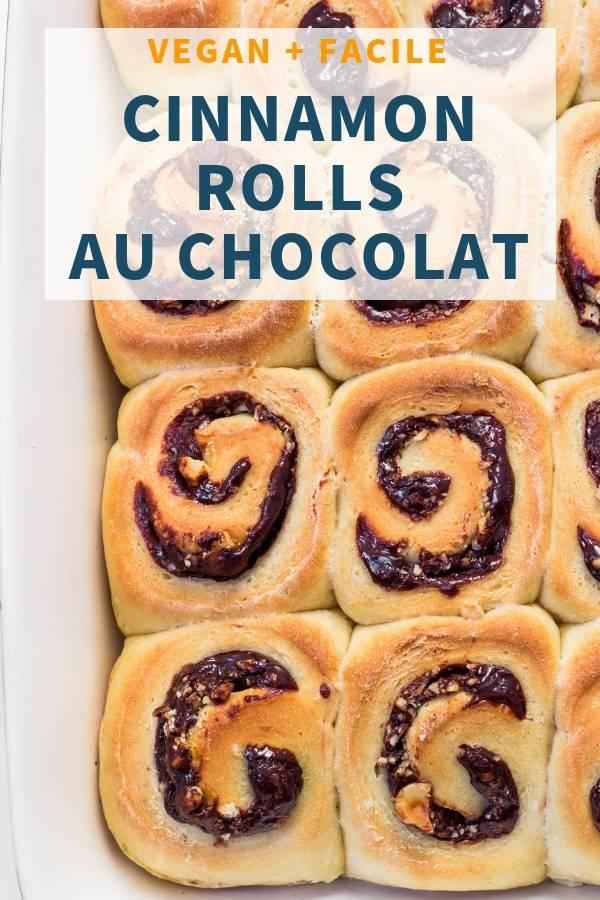 Cinnamon Rolls Vegan au Chocolat_ facile, sain