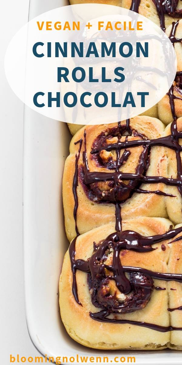 Cinnamon Rolls Vegan au Chocolat_ facile, sans huile