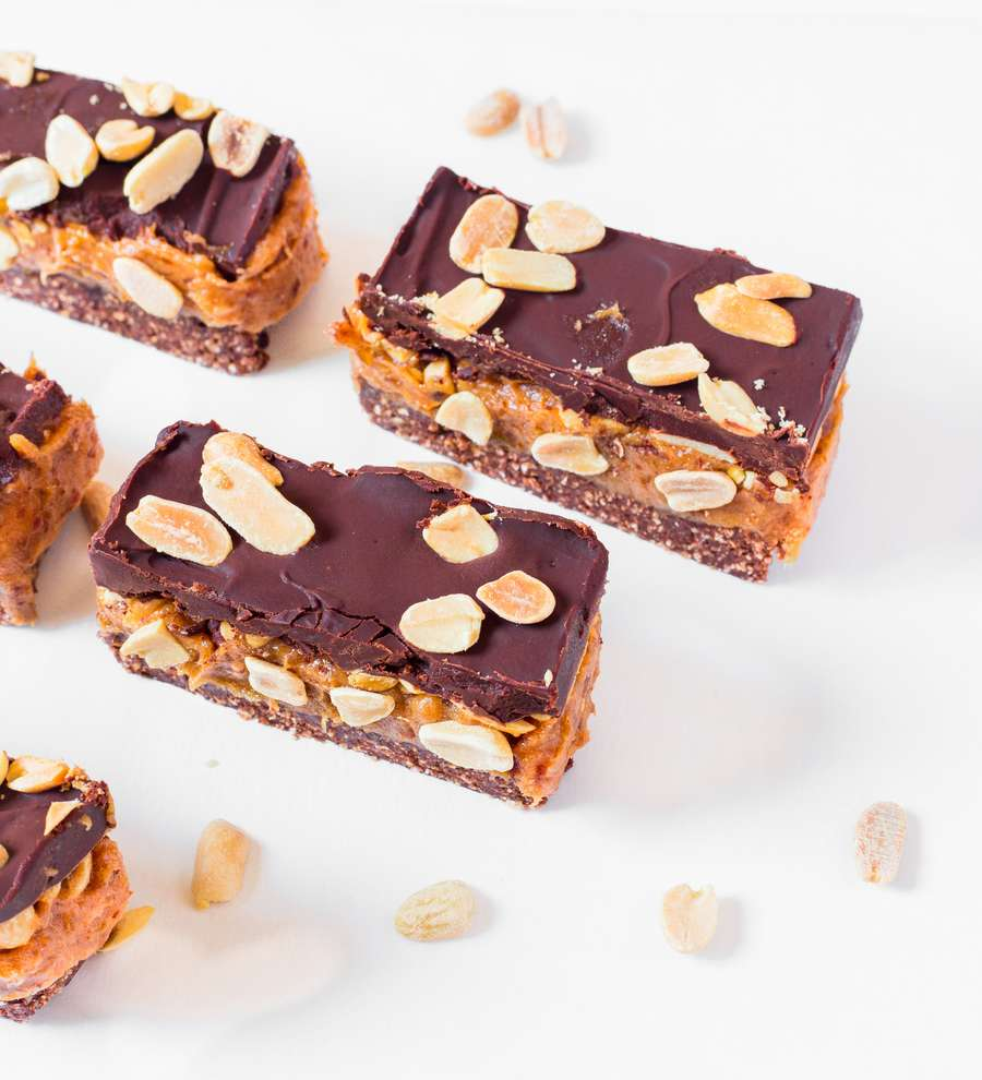 Homemade Vegan Snickers Bars