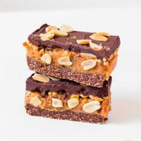 Homemade Vegan Snickers Bars | Gluten-Free, 8 Ingredients