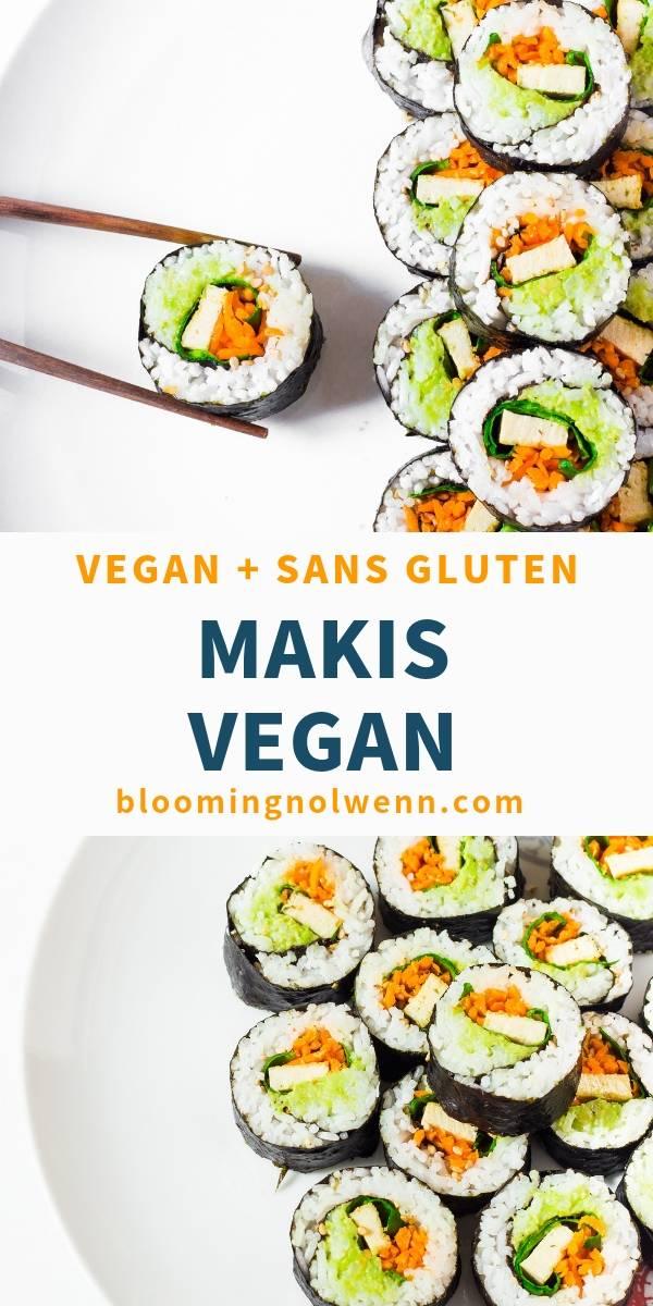 Makis Vegan sans gluten