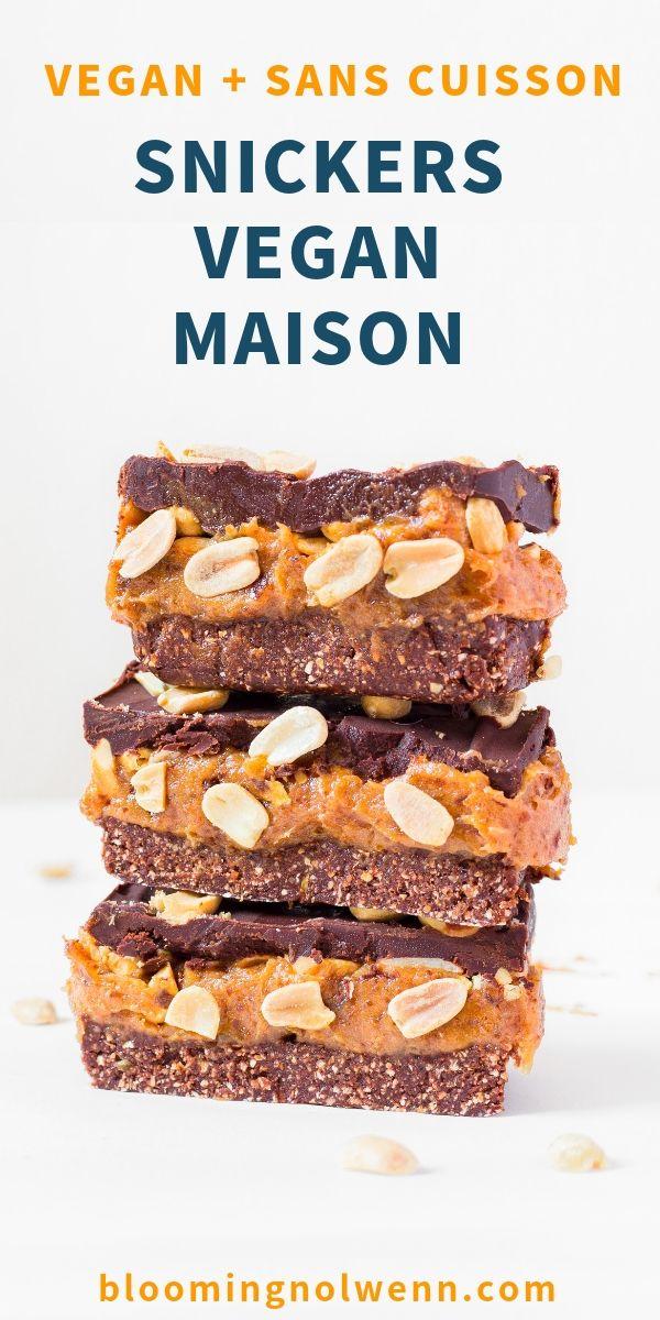 Snickers Vegan Maison - Sans Cuisson, Sans Gluten